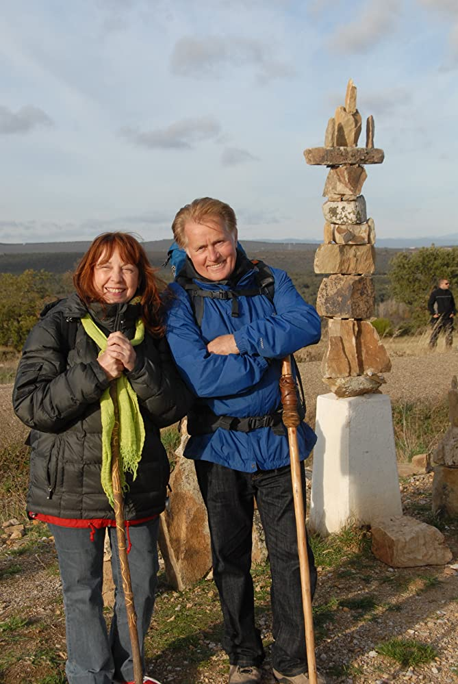 """man and woman and small cairn in """"The Way"""""""